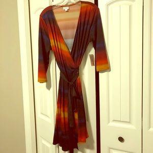 LuLaRoe Michelle Wrap Dress BWT